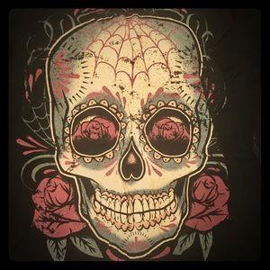 Torrid Sz 2 ~ Pink Skull Ringer T VGUC